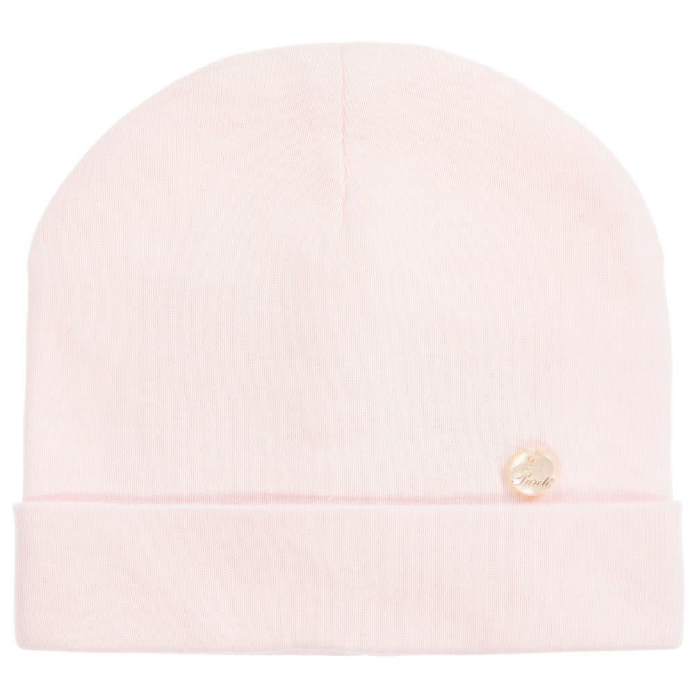 Purete Purete Pink Cotton Jersey Baby Hat