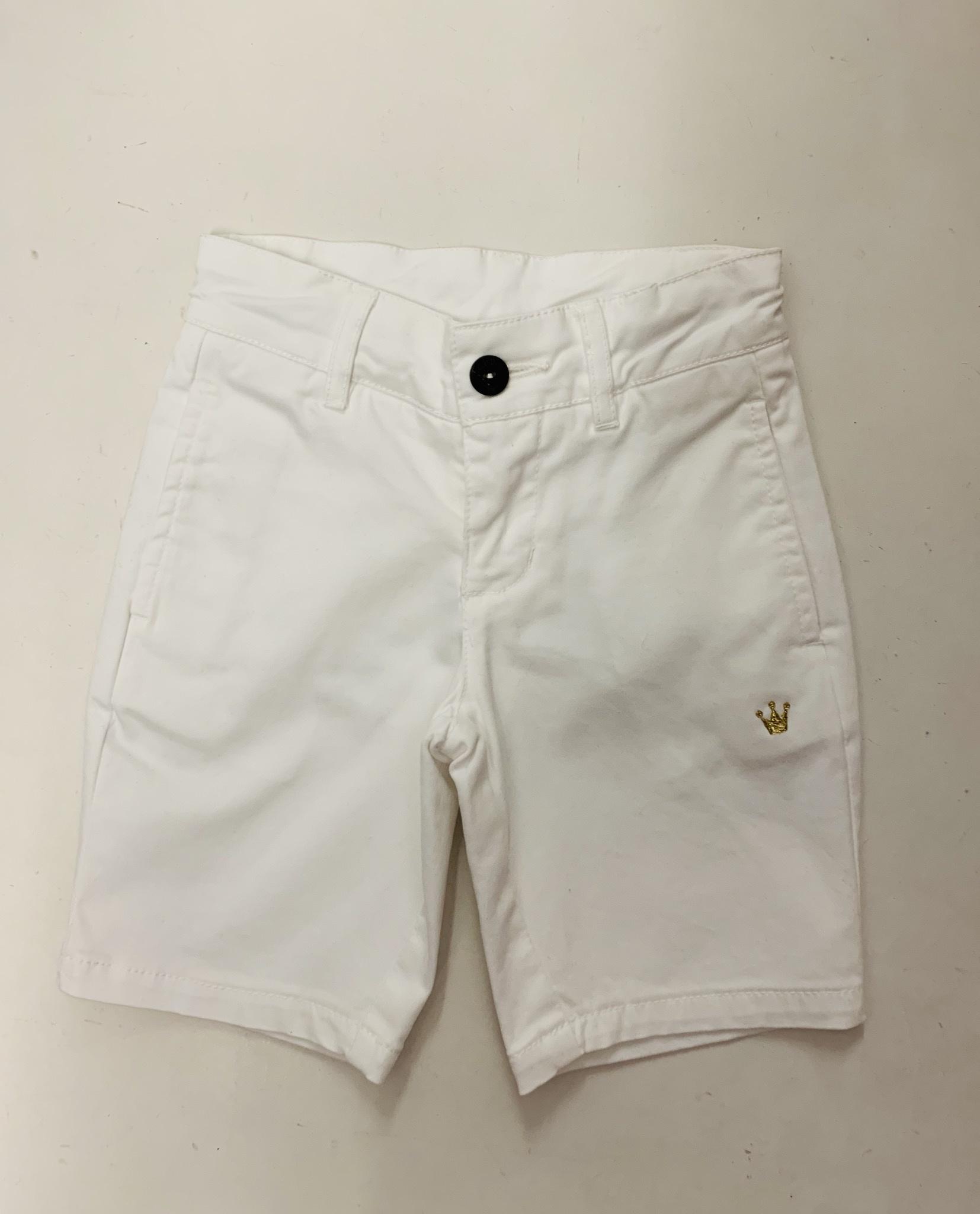 Chua Chua Boys White Shorts with Logo