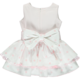 Chua Chua Girls Pink Spot Dress With Bow