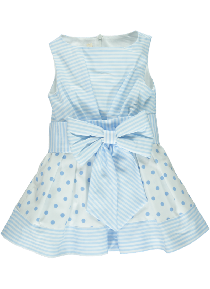 Chua Chua Girls Blue Bow Detail Dress