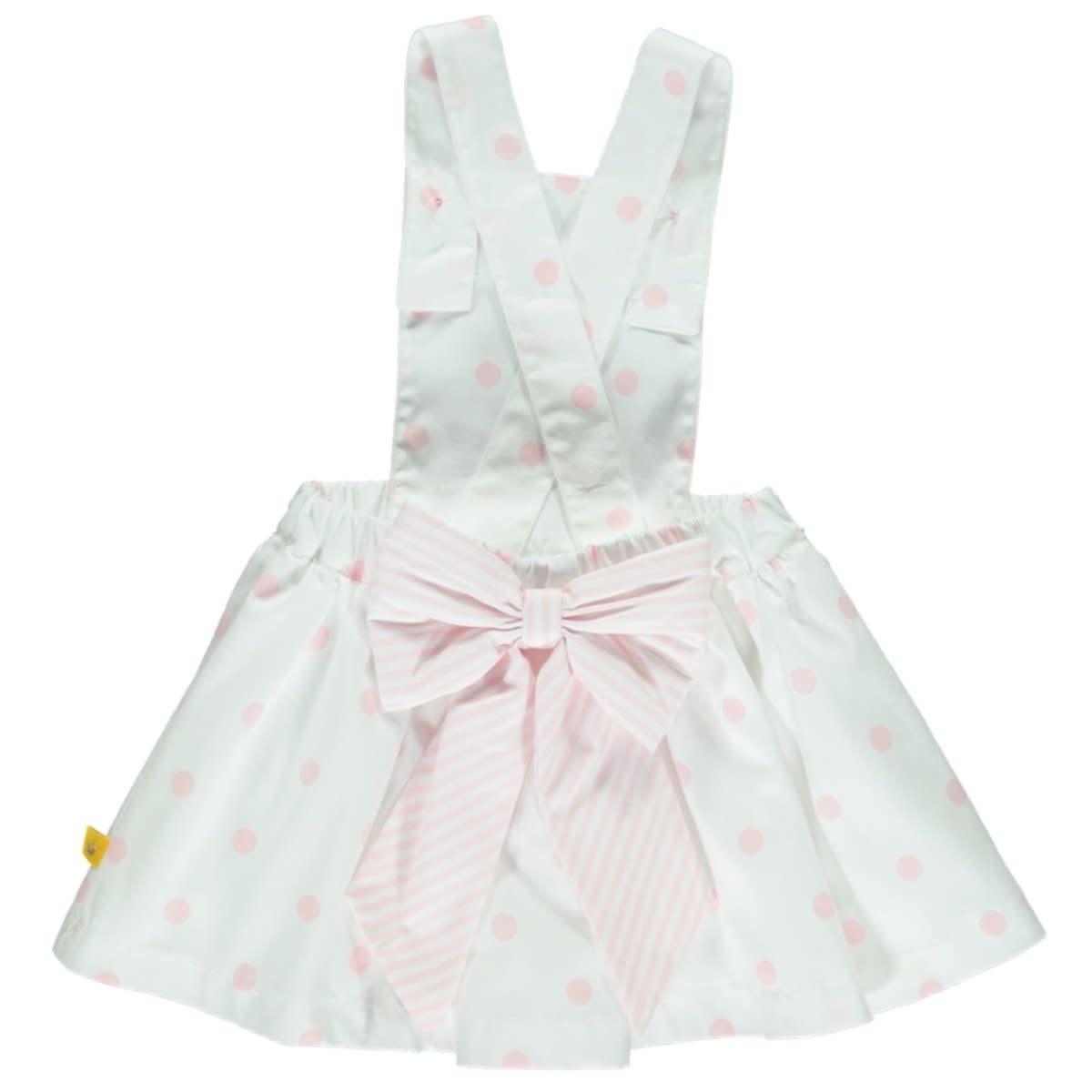 Chua Pink Poka Dot Top And Skirt Set