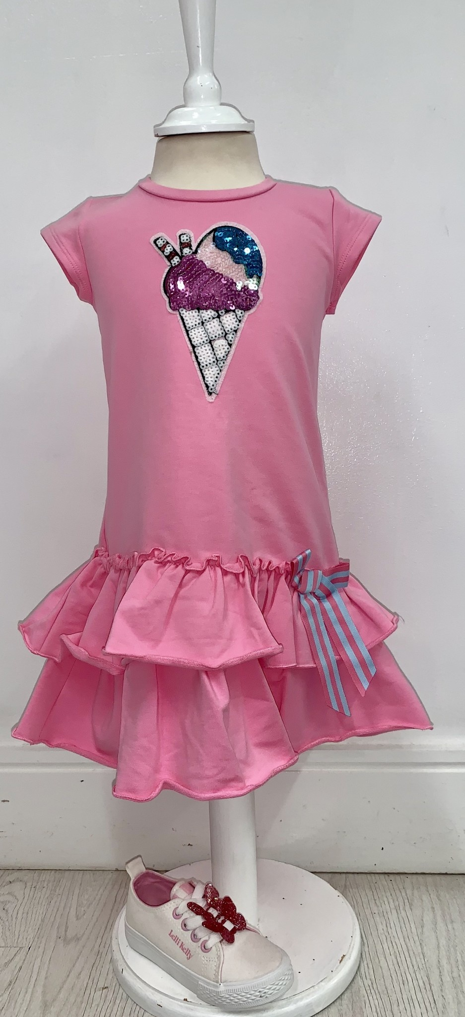 Little Lady Little Lady Girls Ice Cream Ruffle Dress
