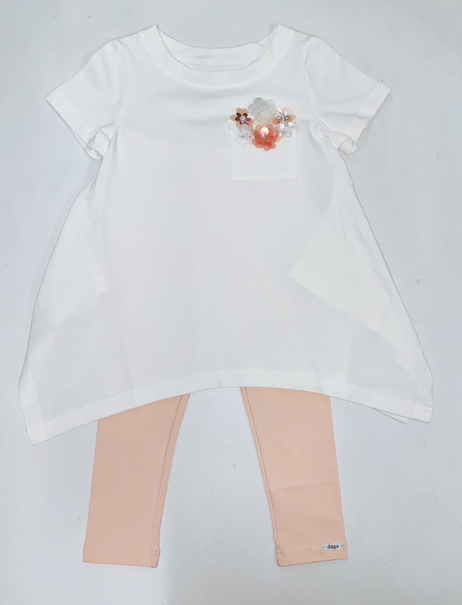 Daga Daga Girls 2 Piece Set with Flower Pocket