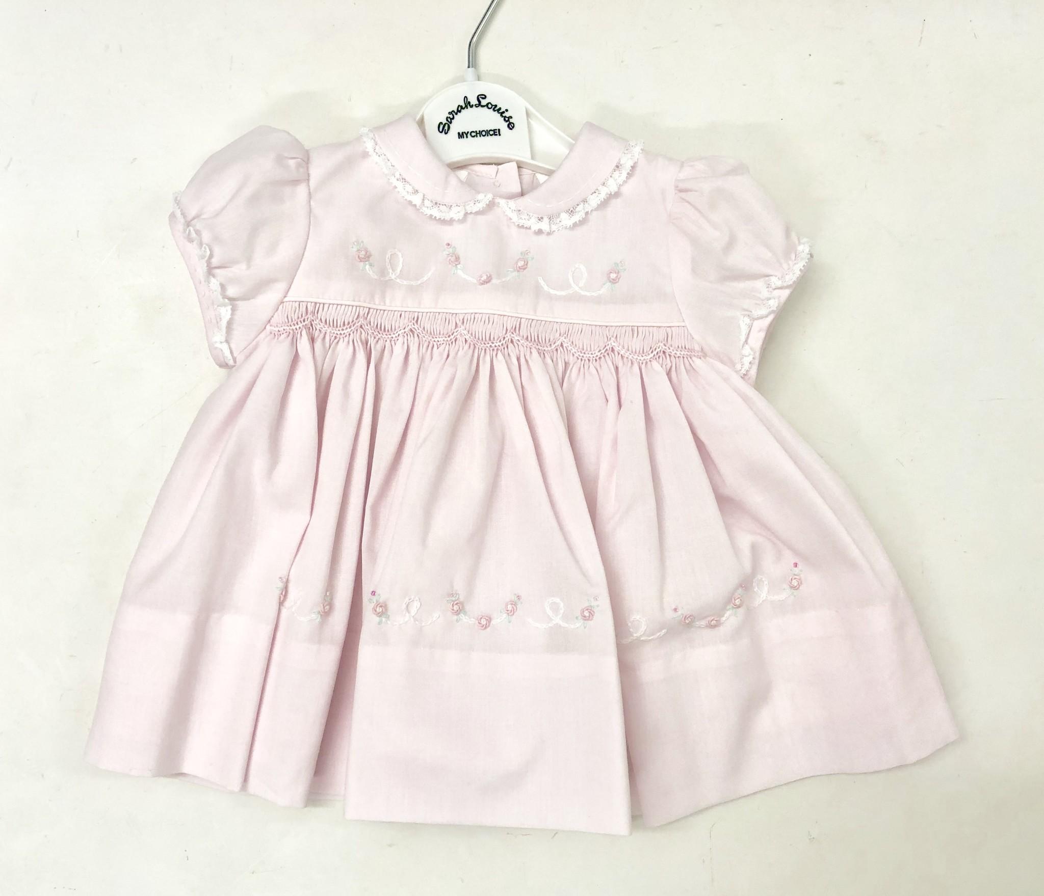 Sarah Louise Sarah Louise 011452 Pink Dress With Rose Detail