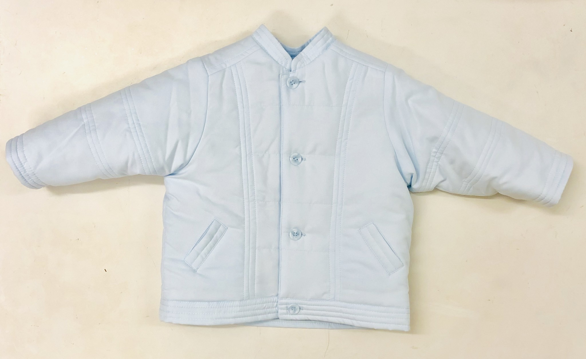 Sarah Louise Dani D09345-2 Pale Blue Quilted Jacket