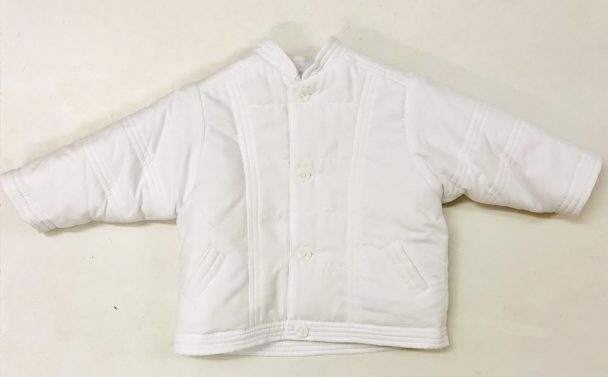 Sarah Louise Dani D09345-1 White Quilted Jacket