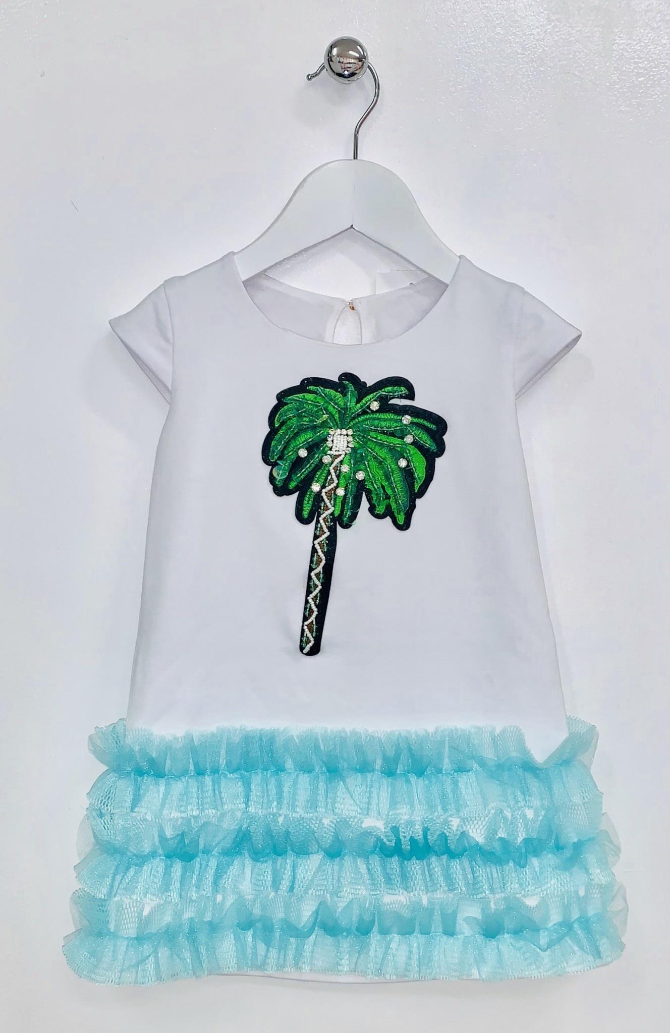 Little Lady Little Lady Girls Dress with Palm Tree