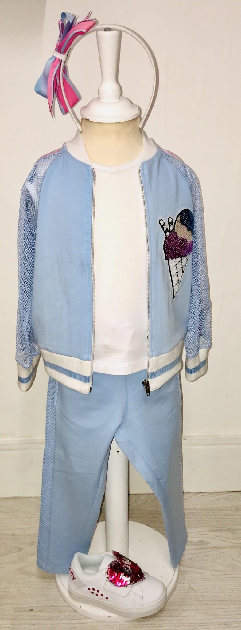 Little Lady Little Lady Blue Cone Detail Jacket