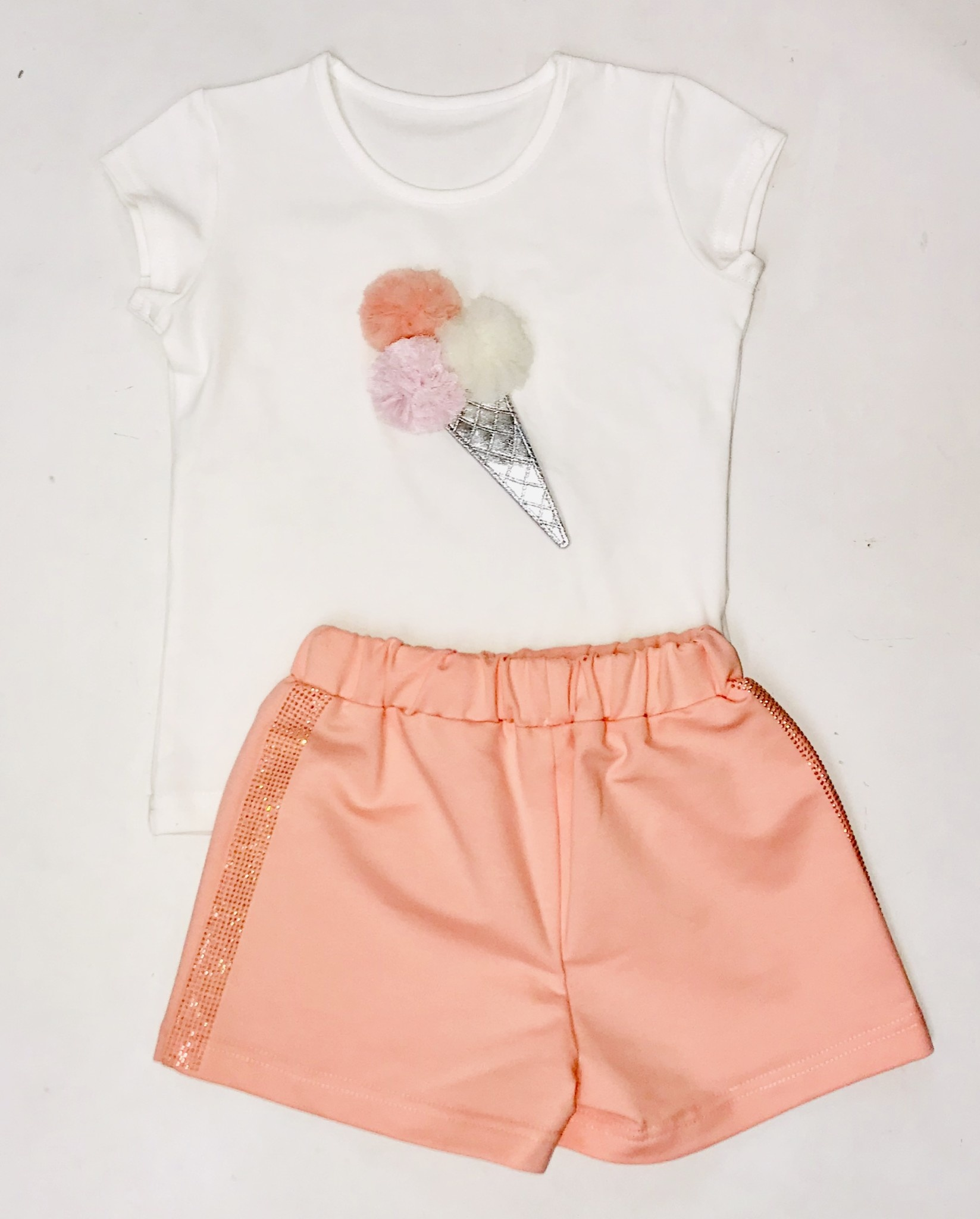 Daga Daga Coral 3 Piece Cone Short Set