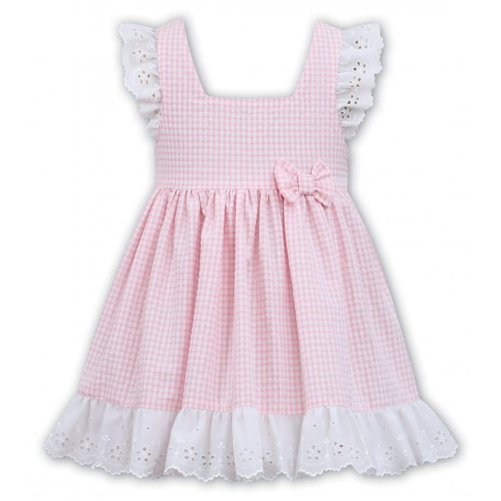Sarah Louise Dani D09307 Pink Check Dress