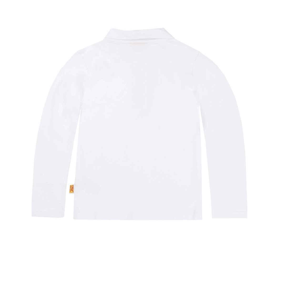 Steiff Steiff White Polo Shirt With Teddy Motif