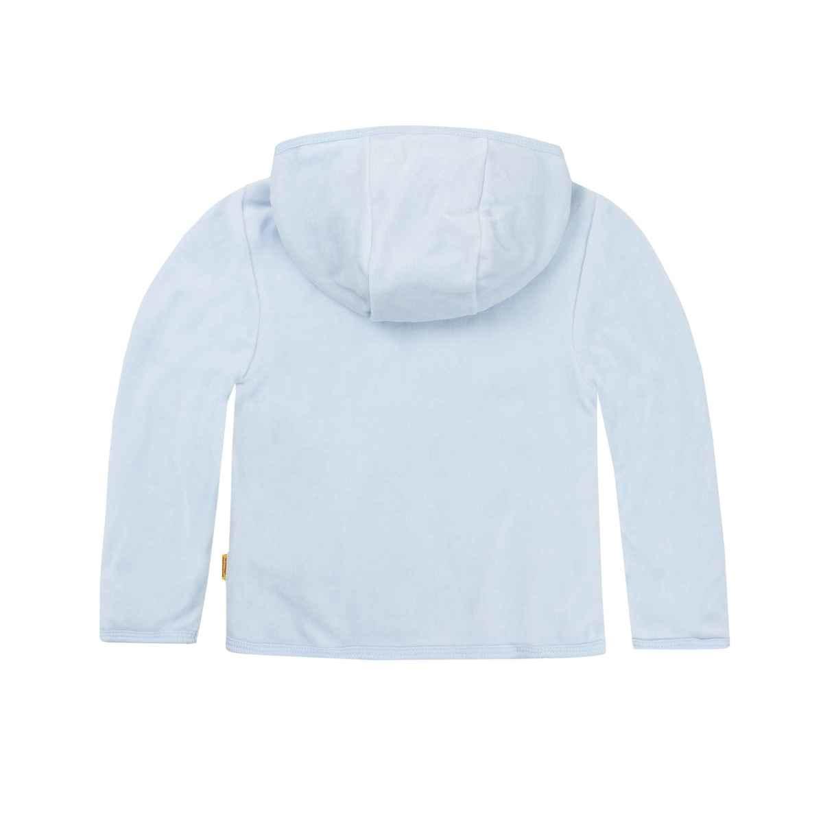 Steiff Steiff Blue Button Front Hooded Velvet Jacket