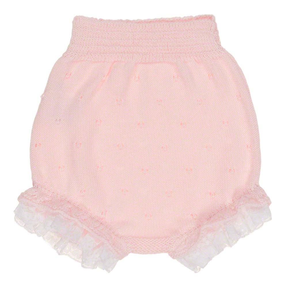 Carmen Taberner Carmen Taberner Pink Knit Dress and Pants Set