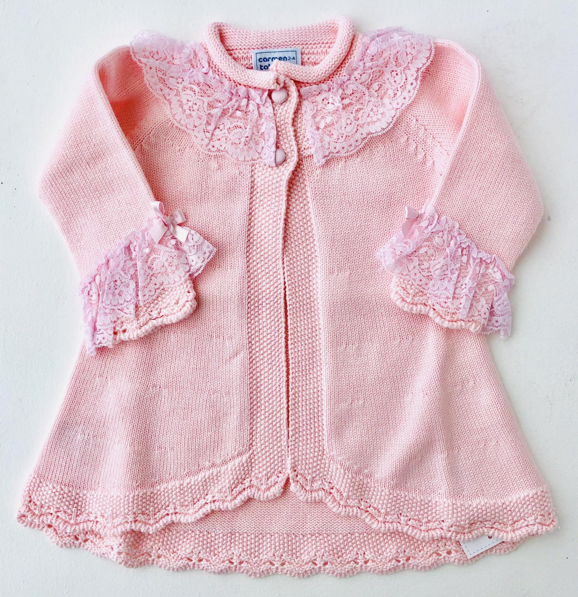 Carmen Taberner Carmen Taberner Pink Knit Cardigan