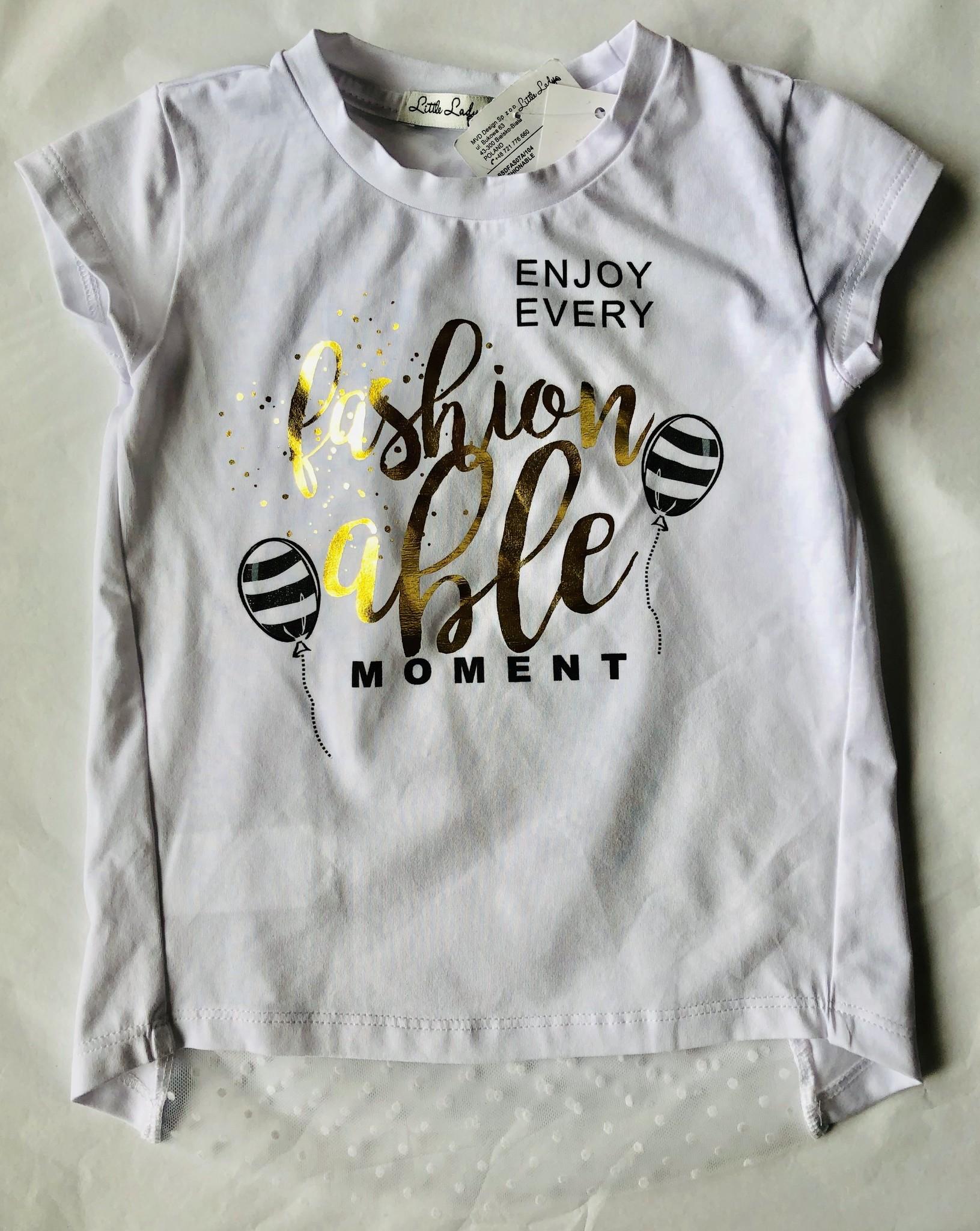 d003d46ea220b Little Lady Little Lady White Fashion Able Moment T-shirt