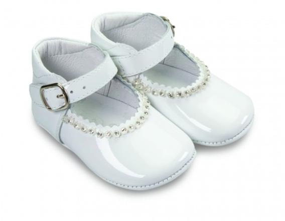 Borboleta Borboleta Gabriela White Pram Shoes