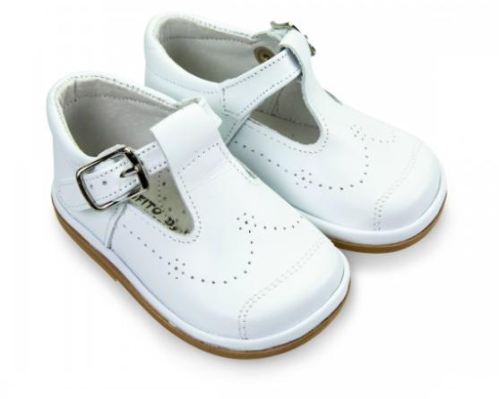 Fofito Fofito Alvaro Boys White Leather Shoe - 2976