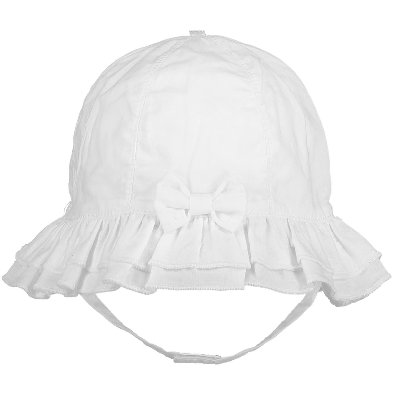 Emile et Rose EMILIE ET ROSE Gabby White Baby Girls White Sun Hat