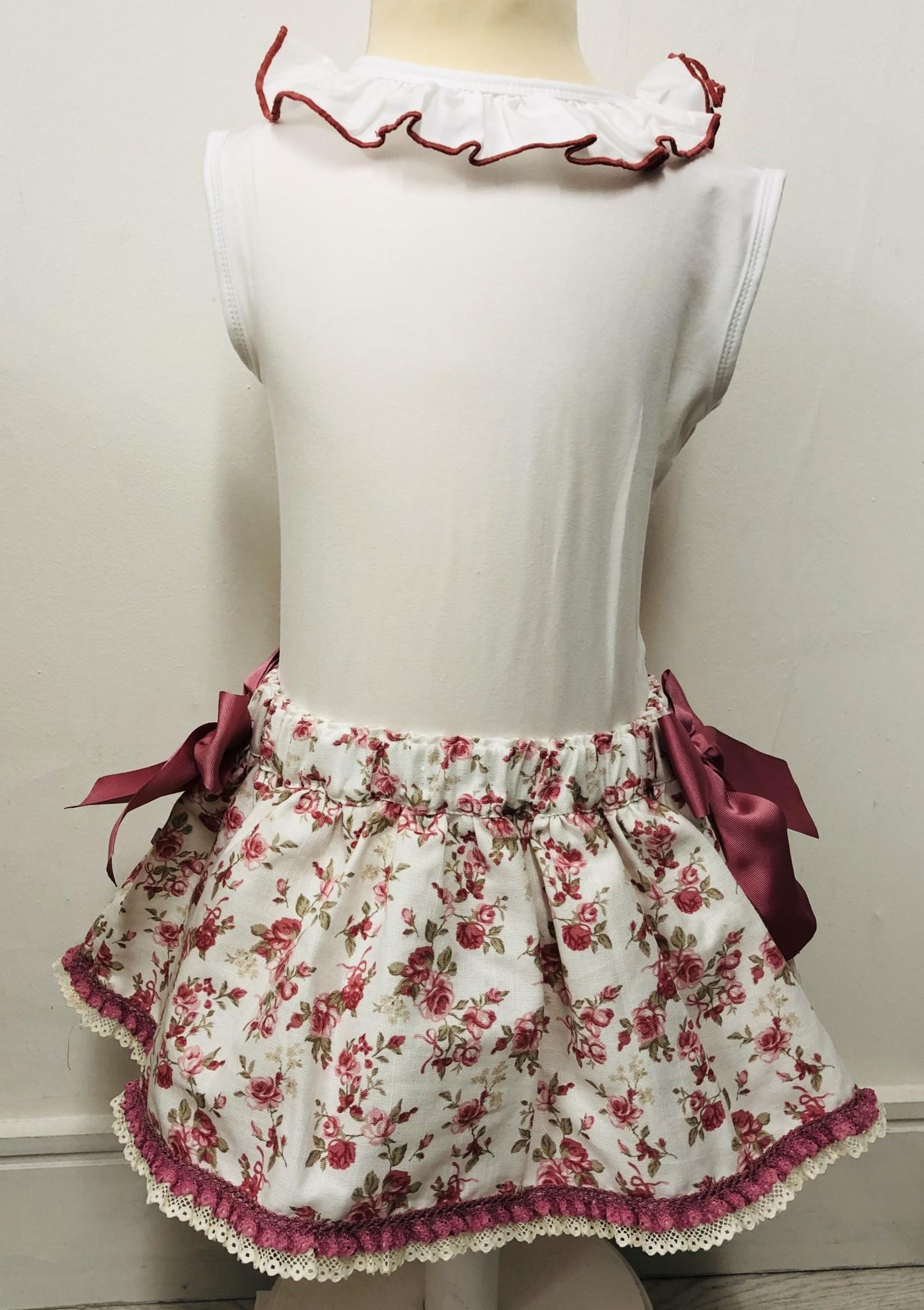 Bogoleta Bogoleta Rose Top and Skirt with Pants & Bow Detail