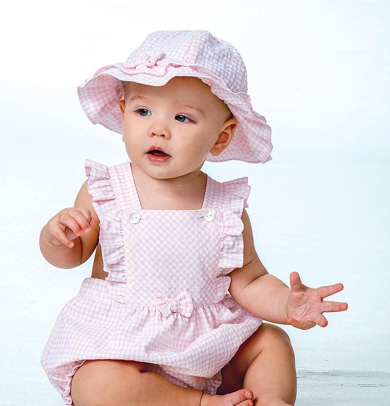 Sarah Louise Dani D09306  Gingham romper & Hat