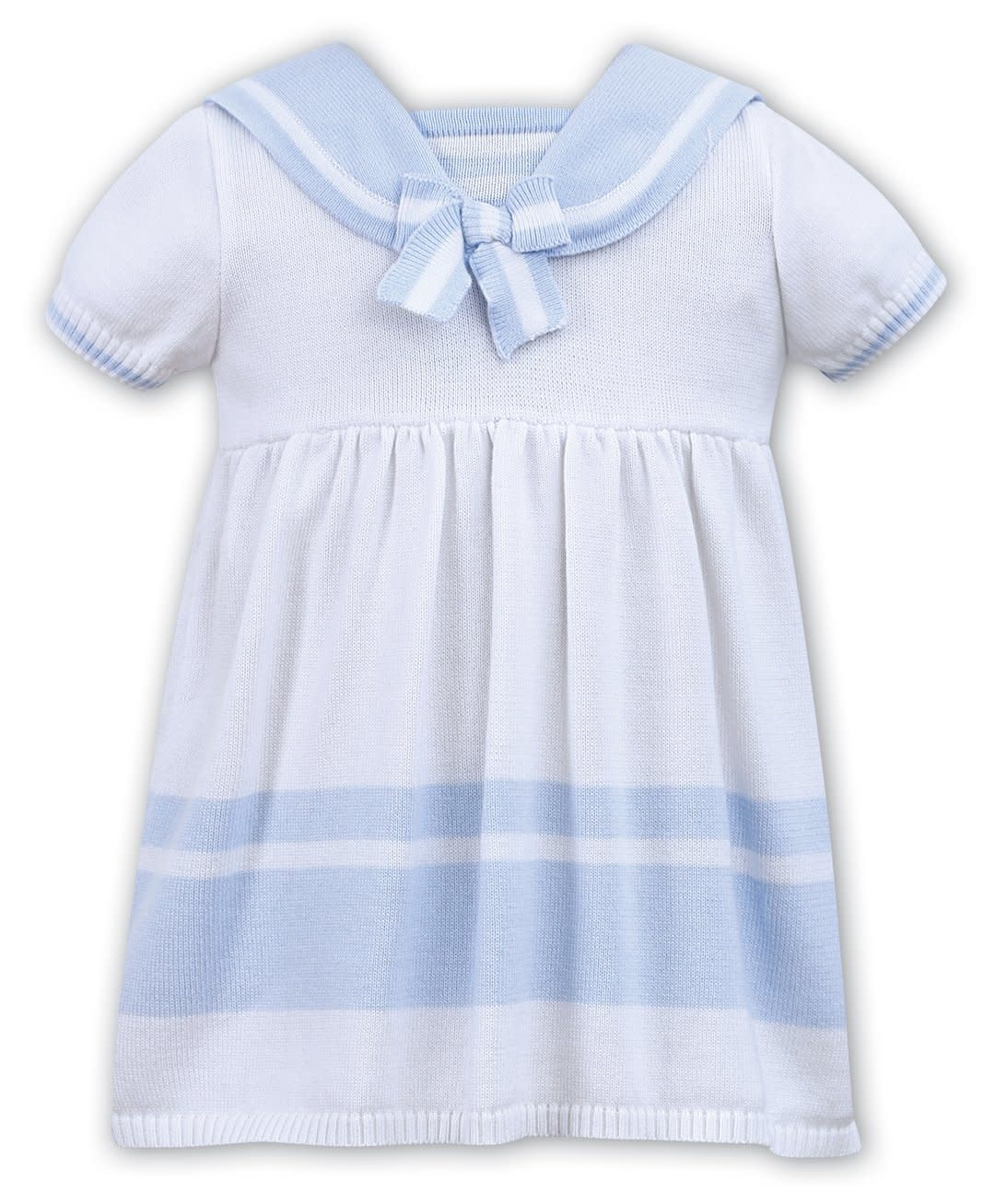 Sarah Louise DANI D09333 WHITE BLUE DRESS