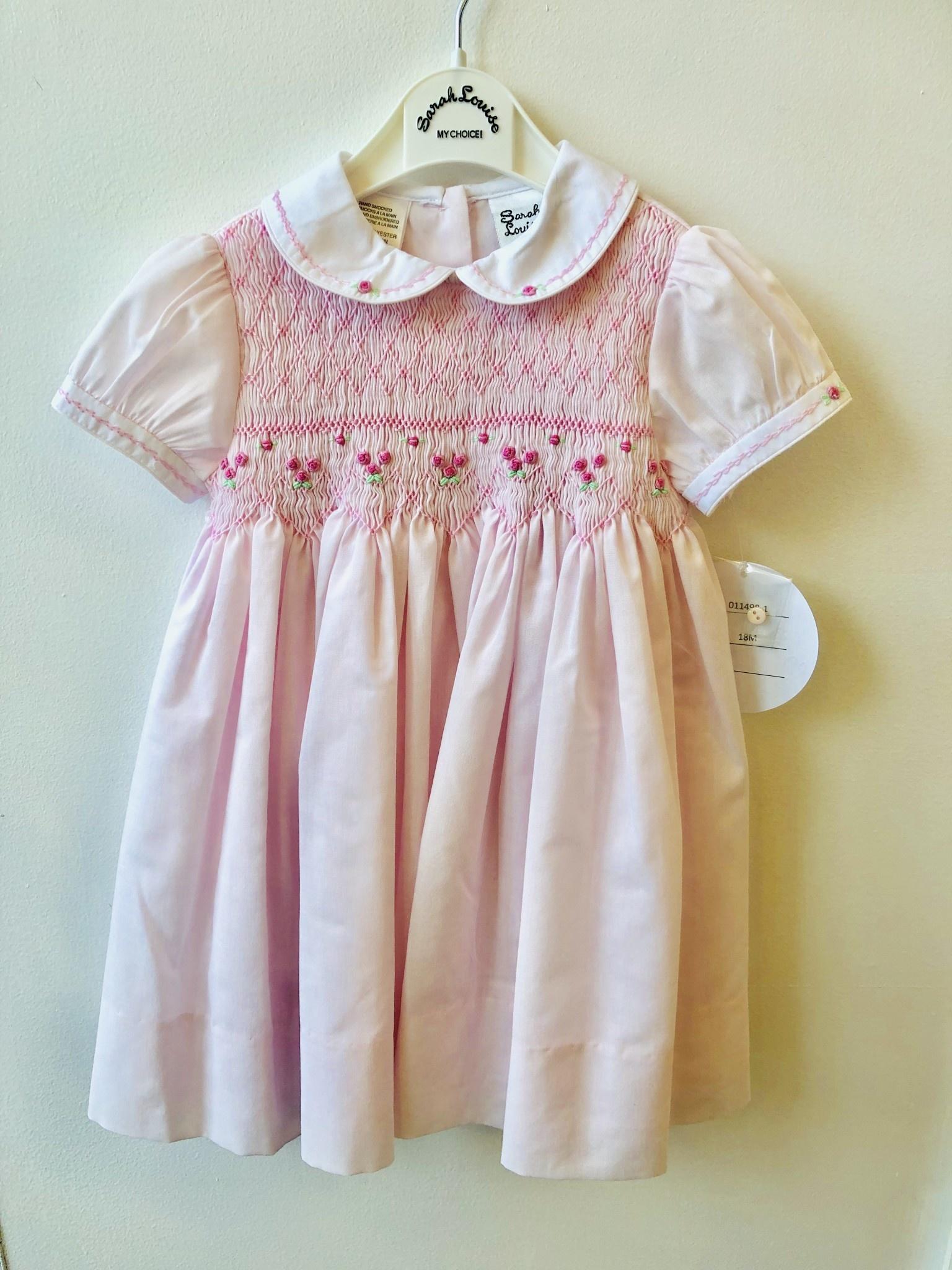Sarah Louise Sarah Louise 011498 Pink Smock Dress