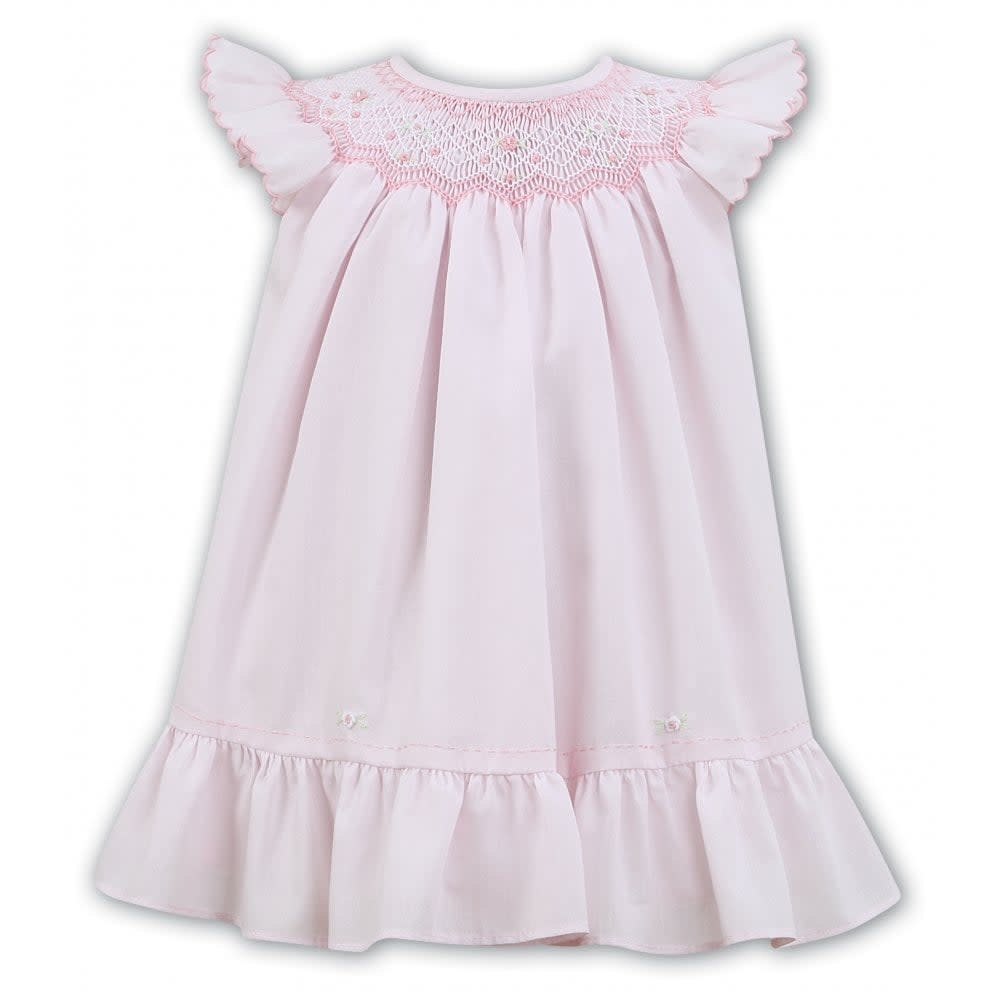 Sarah Louise Sarah Louise 011453 Pink Ruffle Dress