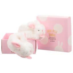 Mon Lapain Bonbon Doudou & Compagnie Pink Rabbit Slippers