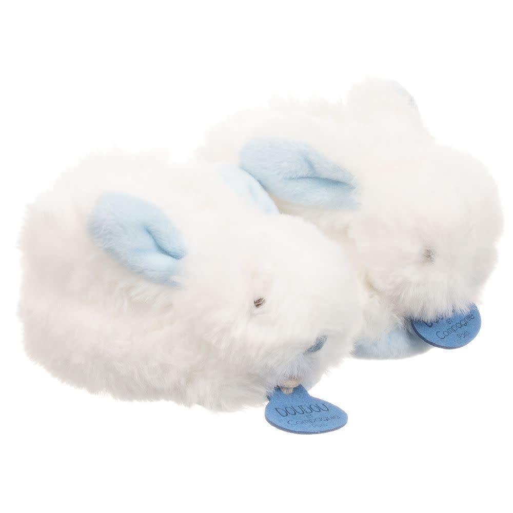 Mon Lapain Bonbon Doudou & Compagnie Blue Rabbit Slippers