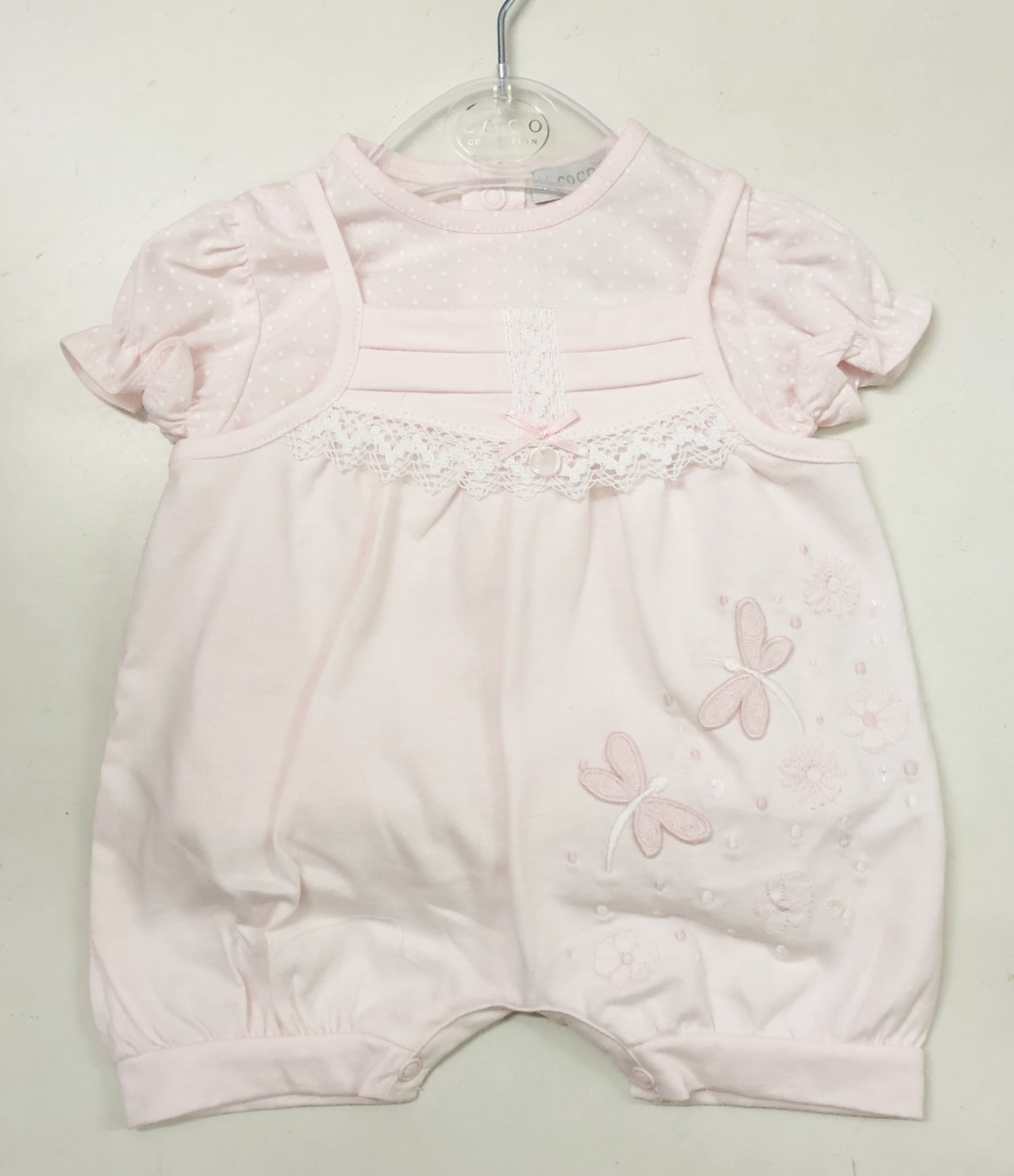COCO Collection CCS5731 Pink Top & Romper Set
