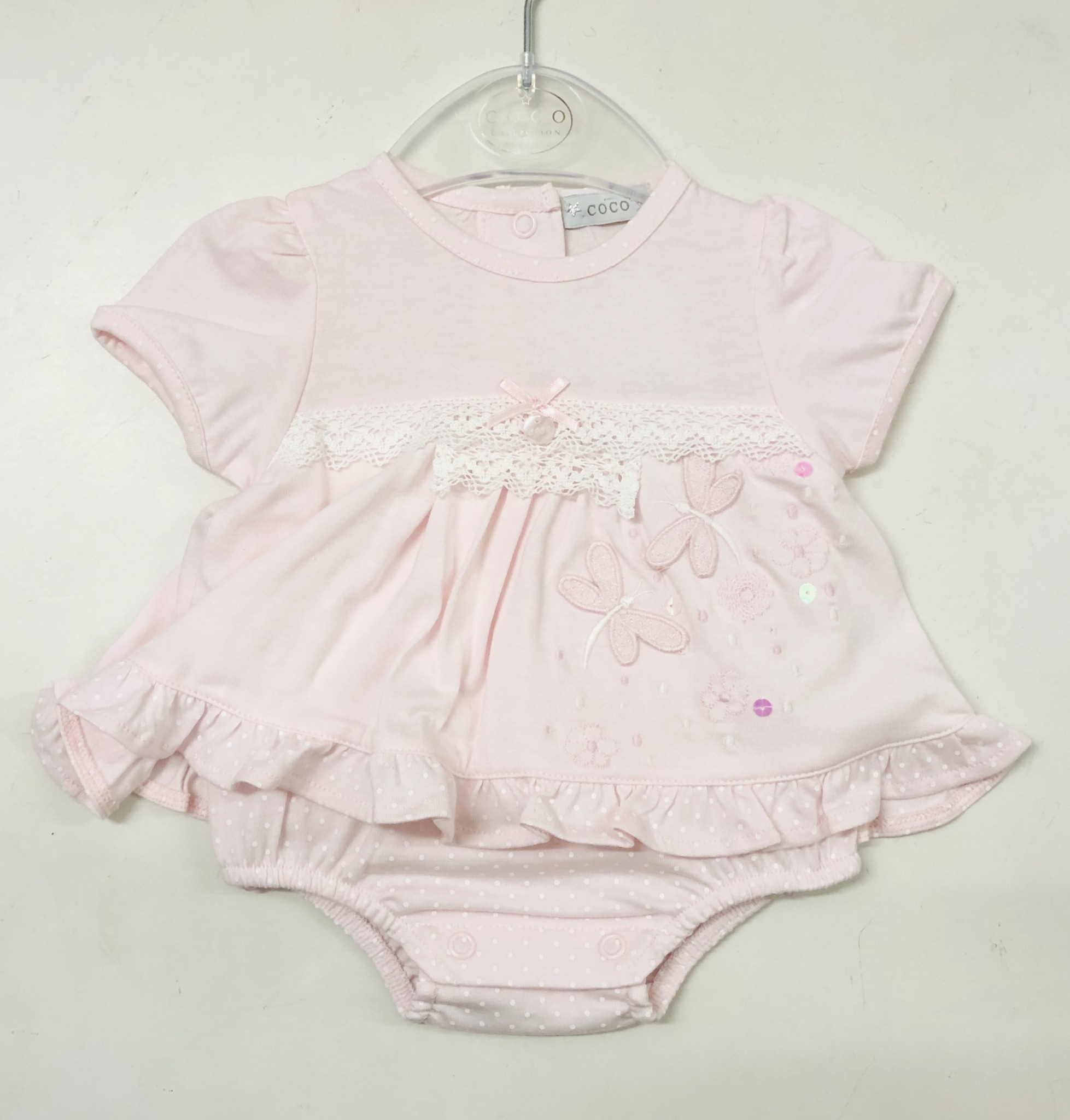 COCO Collection CCS5730 Pink Butterfly Top & Pants Set