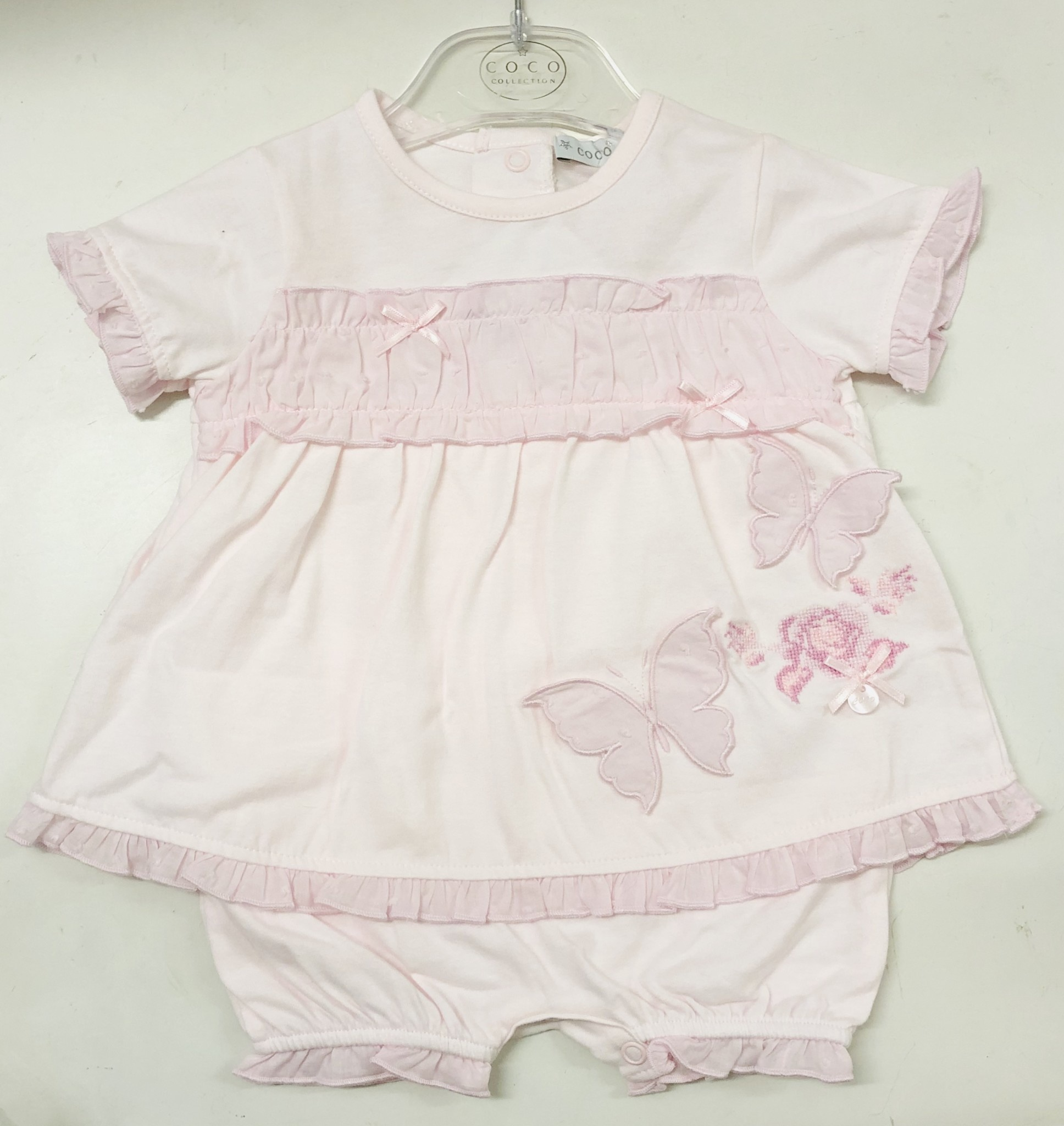 Coco Collection COCO Collection CCS5734 Pink Top & Frill Pant Set