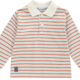 Mitch and Son Mitch & Son Parker MS1241 Winter White/Pale Blue Stripe Polo