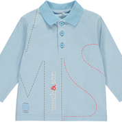 Mitch and Son Mitch & Son Peters MS1243 Pale Blue Plain Polo