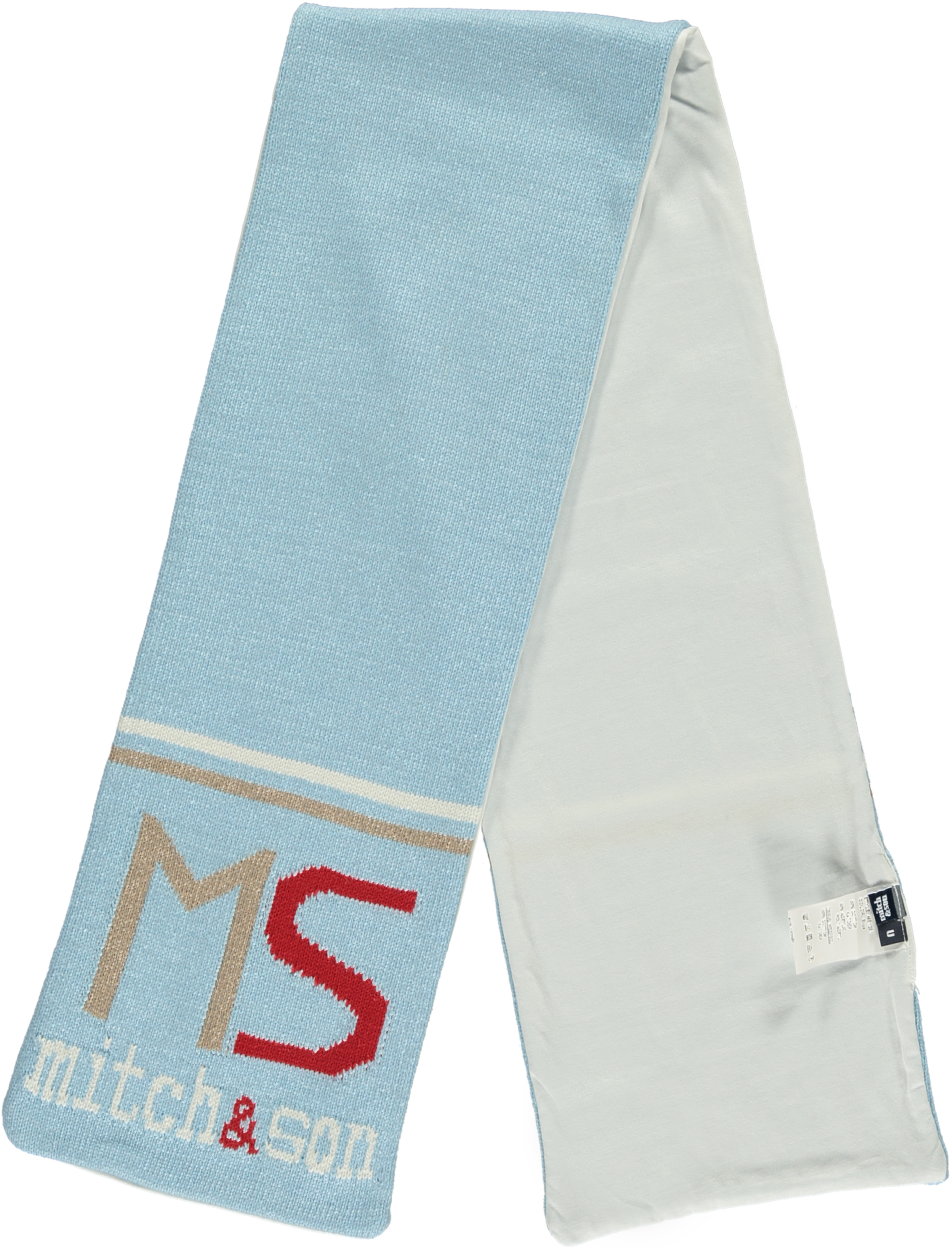 Mitch and Son Mitch & Son Adams MS1251S Pale Blue MS Scarf