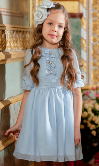 Patachou Patachou Girls Sky Blue Dress