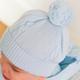 Emile et Rose Emile Et Rose Fuzzy Blue Bobble Hat
