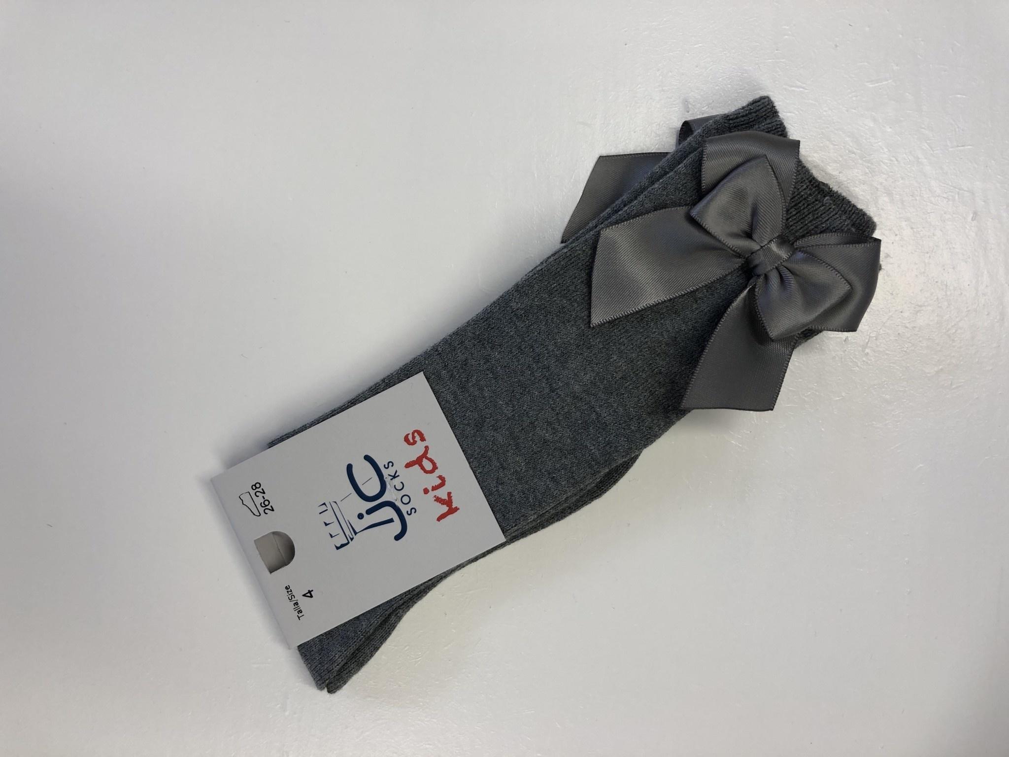 JC Socks JC 52803 Mid Grey Double Bow Sock