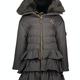 Lechic Le Chic Grey Frill Coat