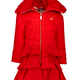 Lechic Le Chic Red Frill Coat 5214