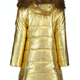 Lechic Le Chic Gold Fur Hood Coat 5216
