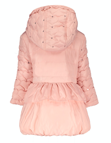 Lechic Le Chic Pink Quilted Coat 7222