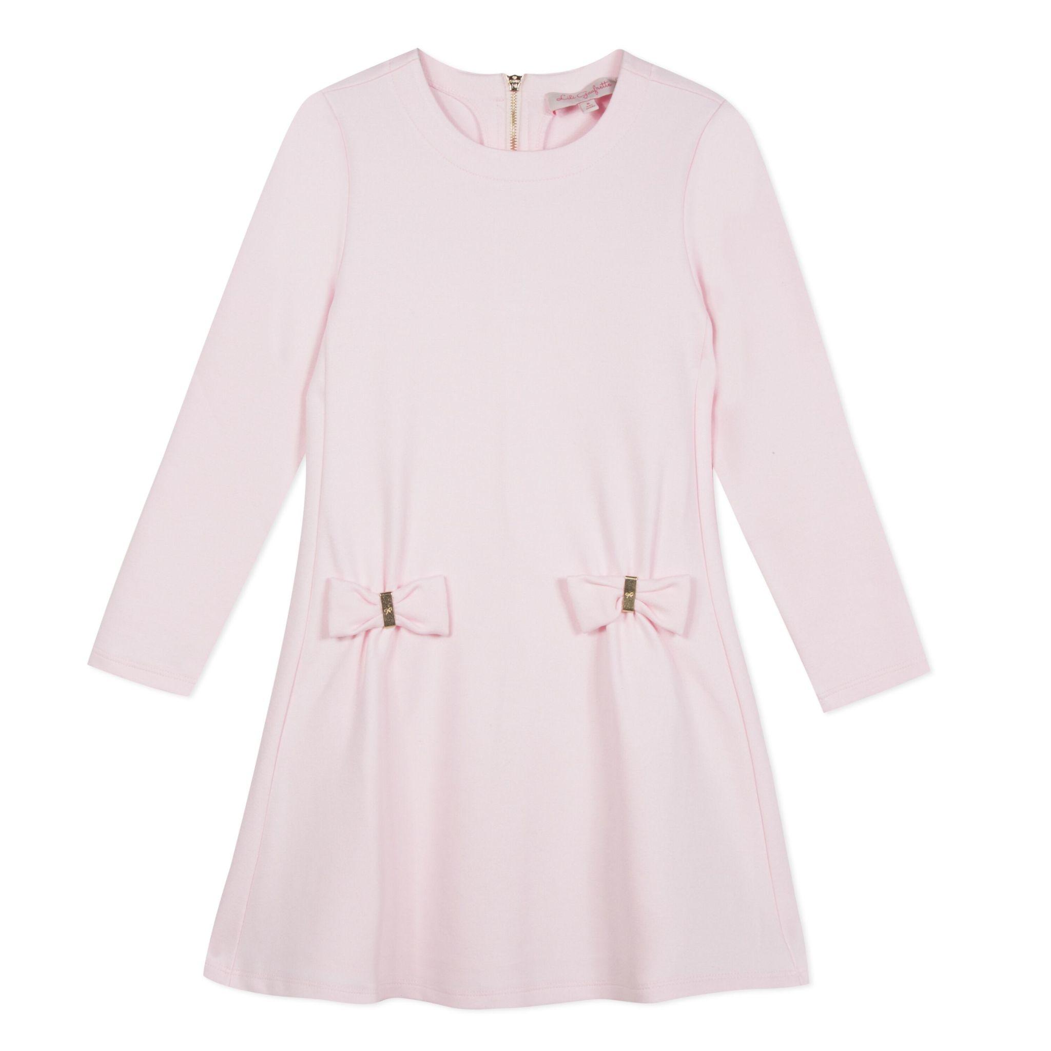 Lili Gaufrette Lili Gaufrette Pink Bow Dress
