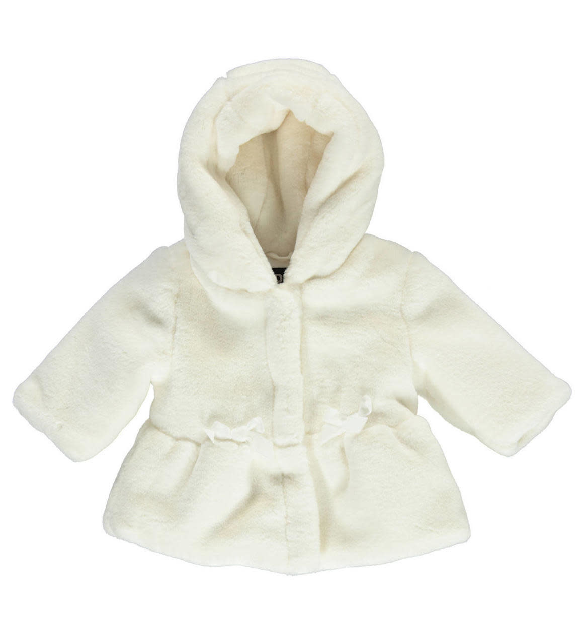 Winter White Ido Faux Fur Jacket With Hood