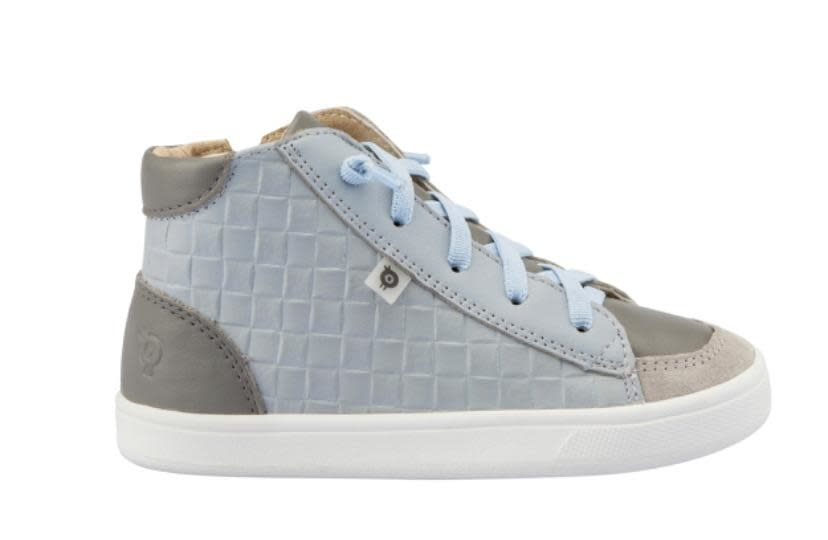 Oldsoles Oldsoles Blue and Grey Hi Top Boots