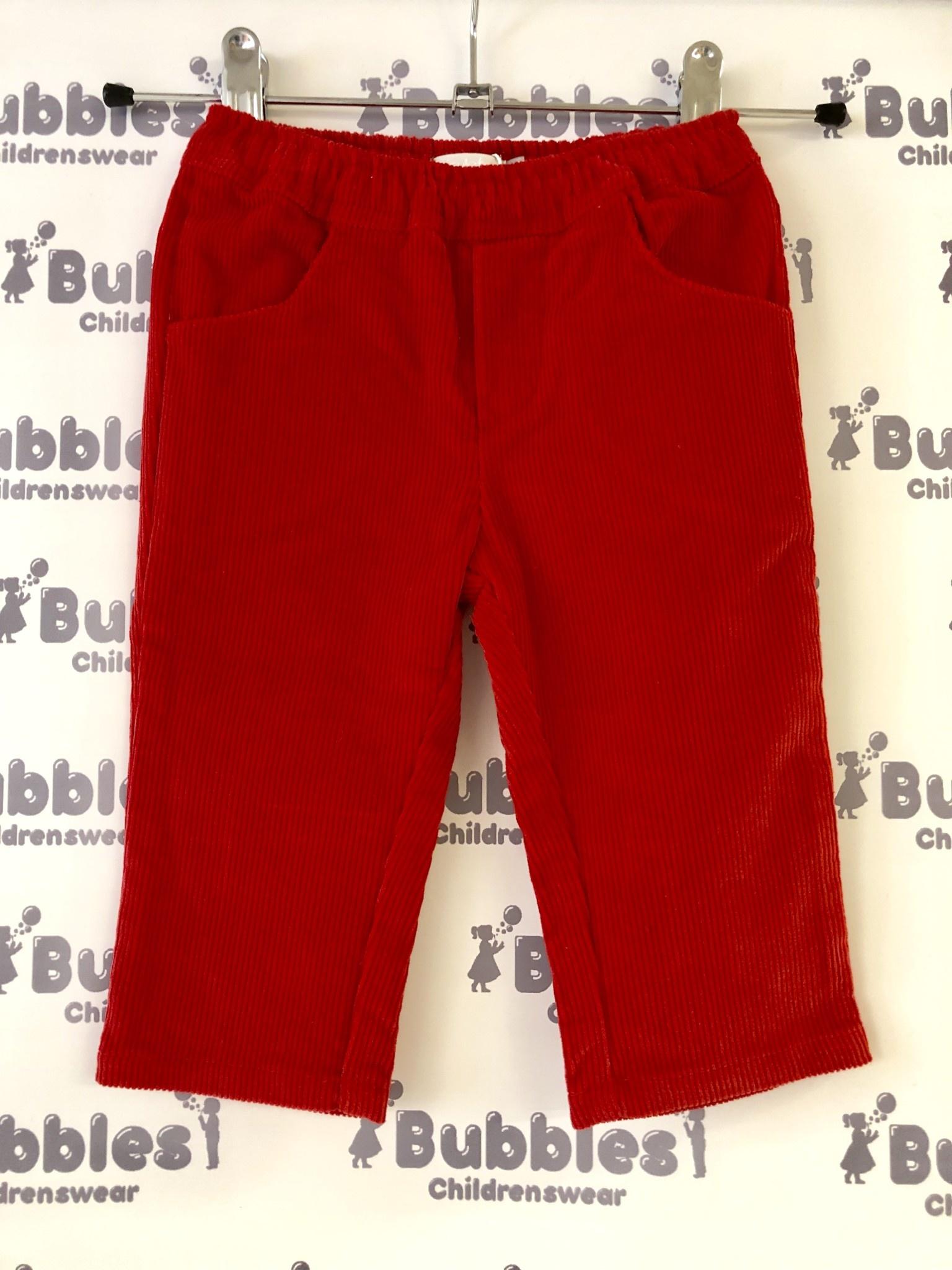 Piruleta Piruleta Red Soft Cord Trousers