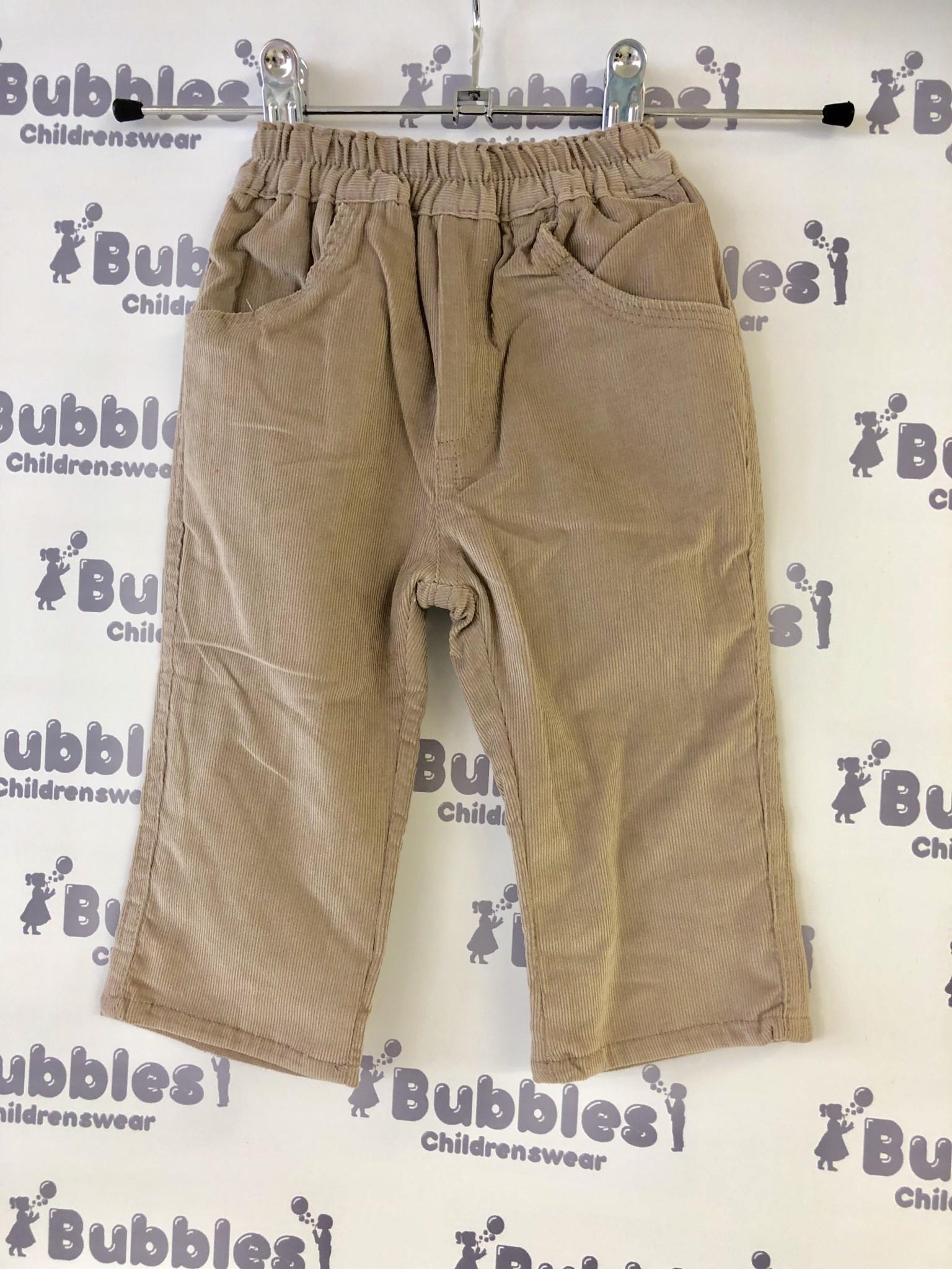Piruleta Piruleta Taupe Soft Cord Trousers