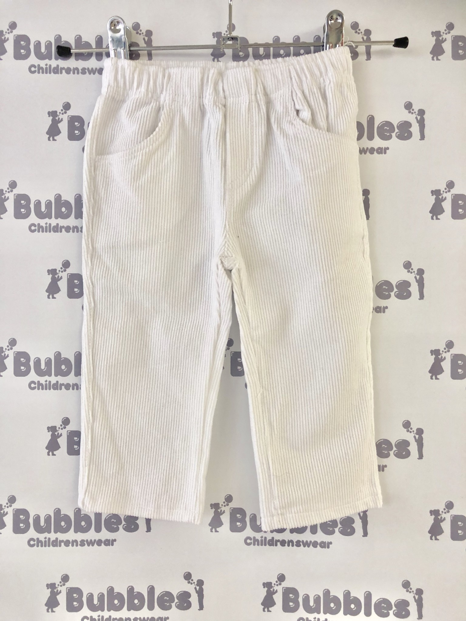 Piruleta Piruleta White Soft Cord Trousers