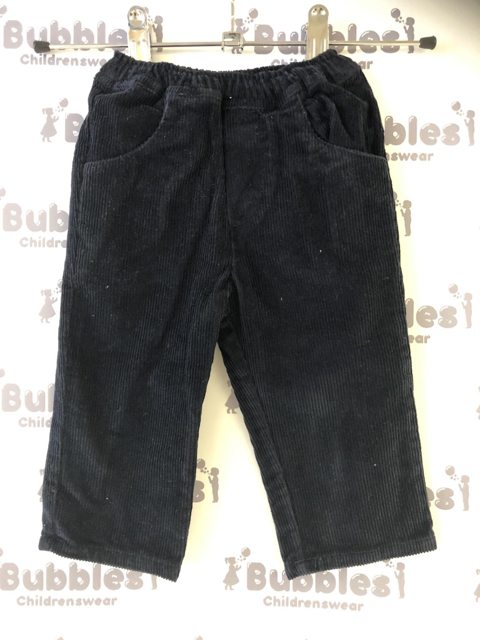 Piruleta Piruleta Navy Soft Cord Trousers