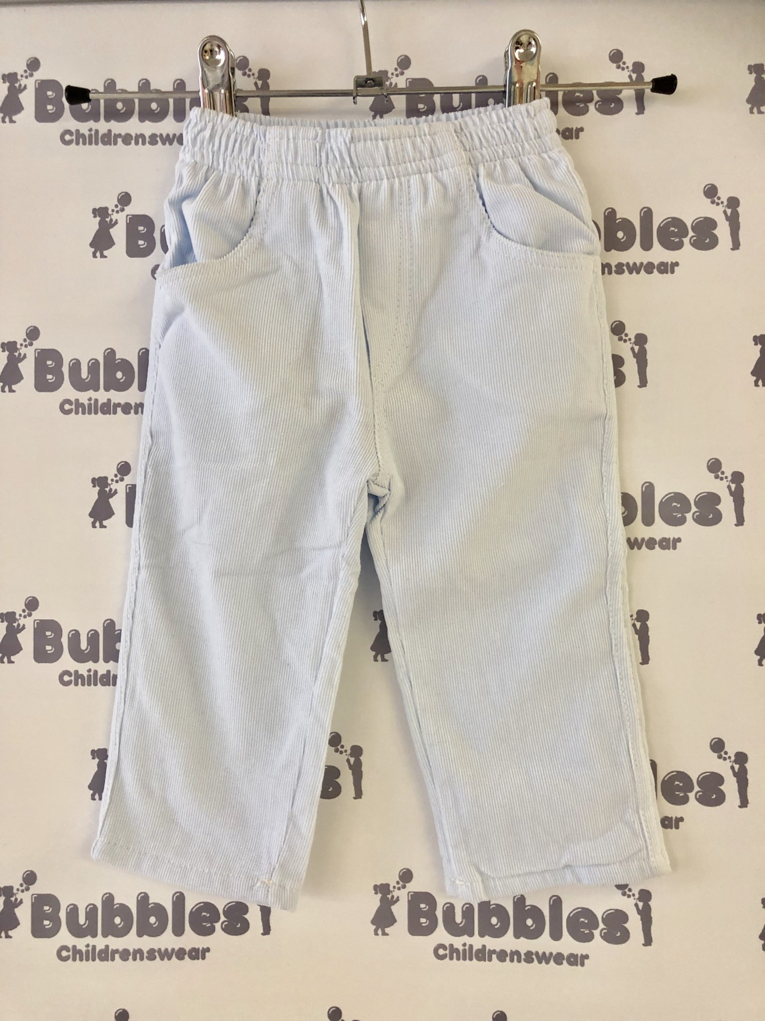 Piruleta Piruleta Pale Blue Soft Fine Cord Trousers